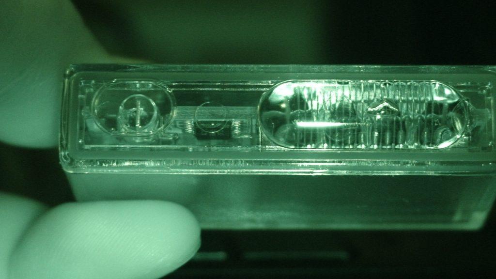 Infrared image of K40 Optix Laser Jammer Head